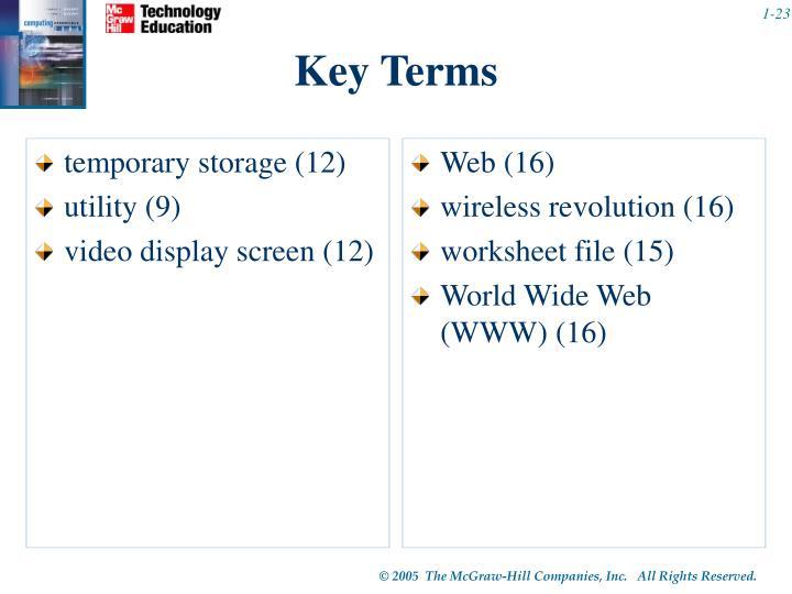 temporary storage (12)