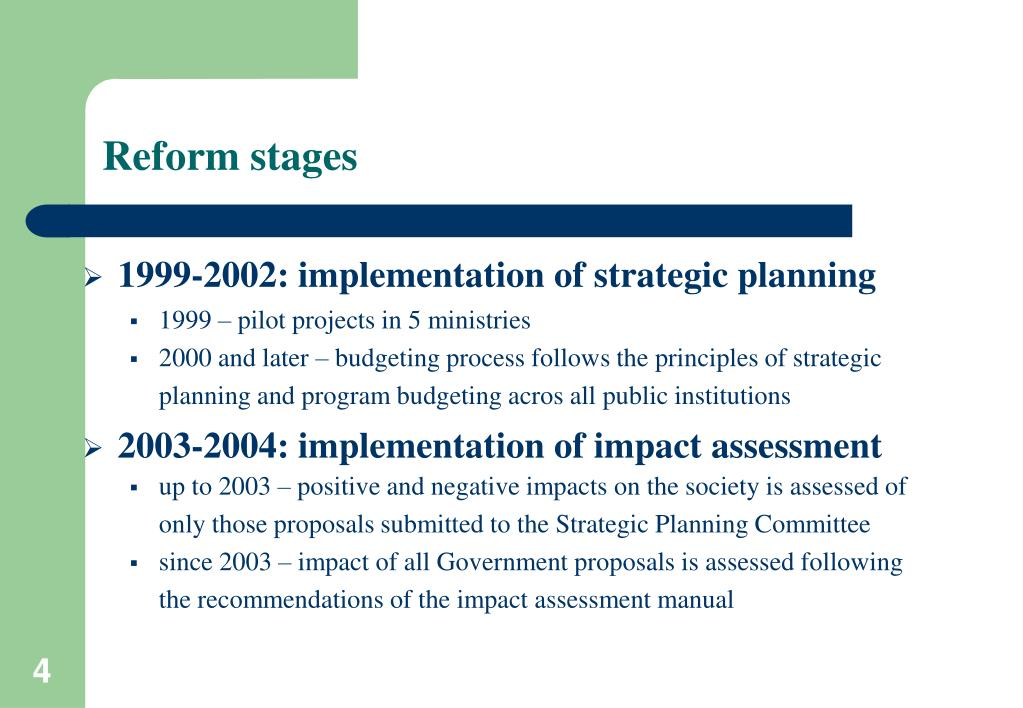 Reform stages