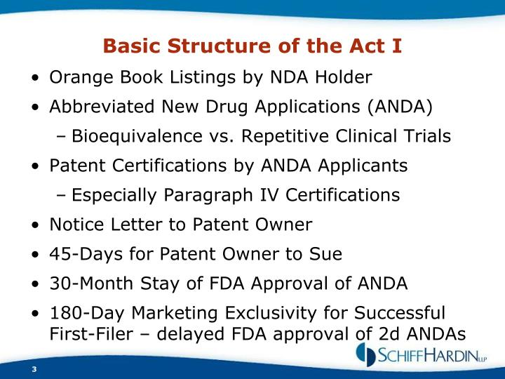 Basic Structure of the Act I