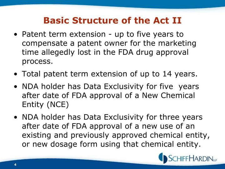 Basic Structure of the Act II