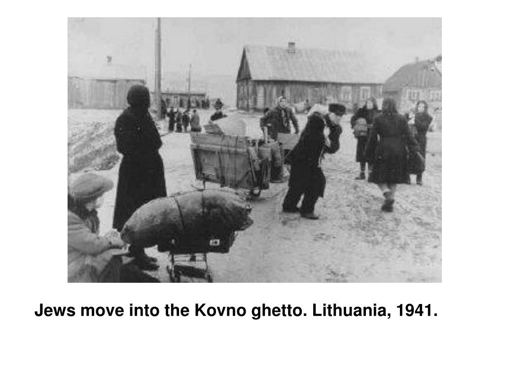 Jews move into the Kovno ghetto. Lithuania, 1941.