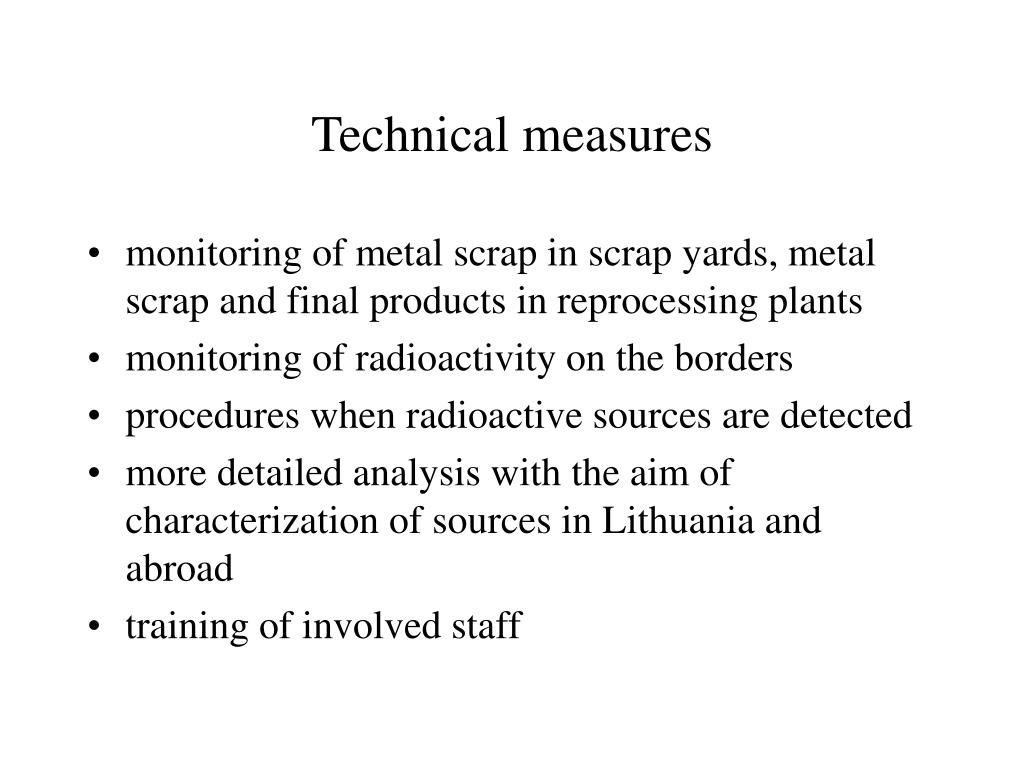 Technical measures