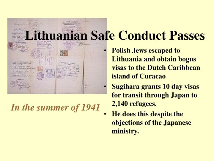 Lithuanian safe conduct passes