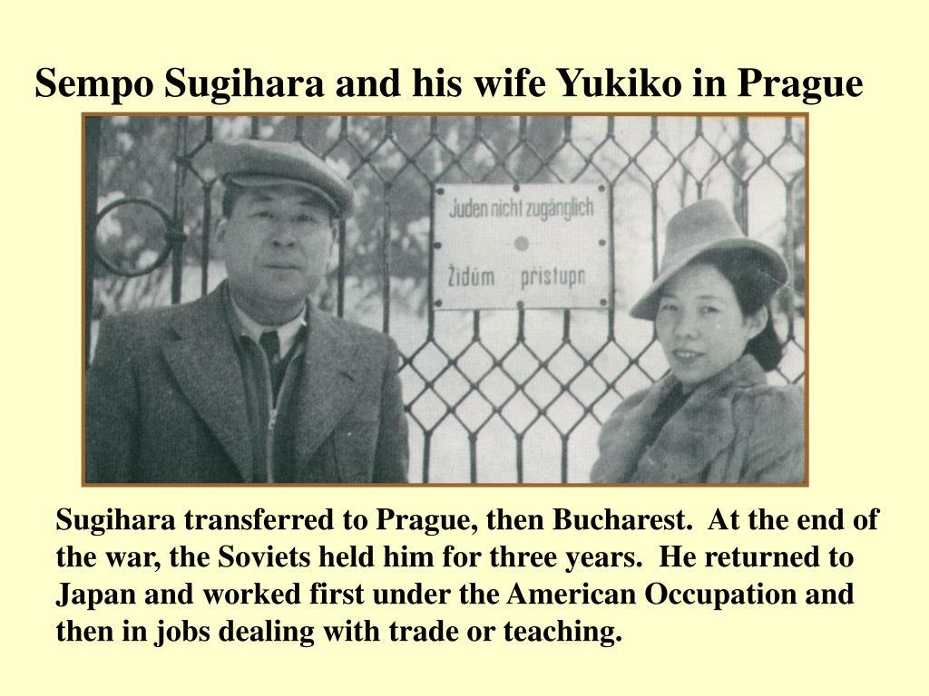Sempo Sugihara and his wife Yukiko in Prague