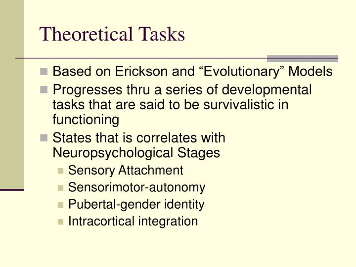 Theoretical Tasks