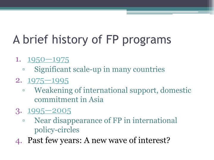 A brief history of fp programs
