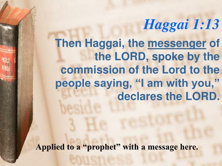 Haggai 1:13