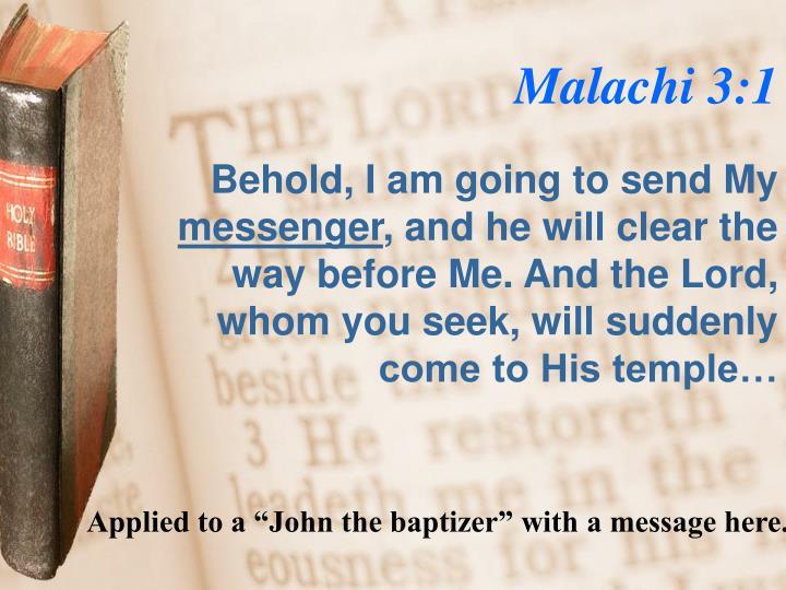 Malachi 3:1