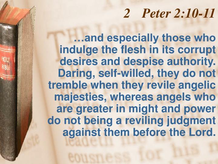 Peter 2:10-11