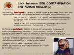 link between soil contamination and human health 2