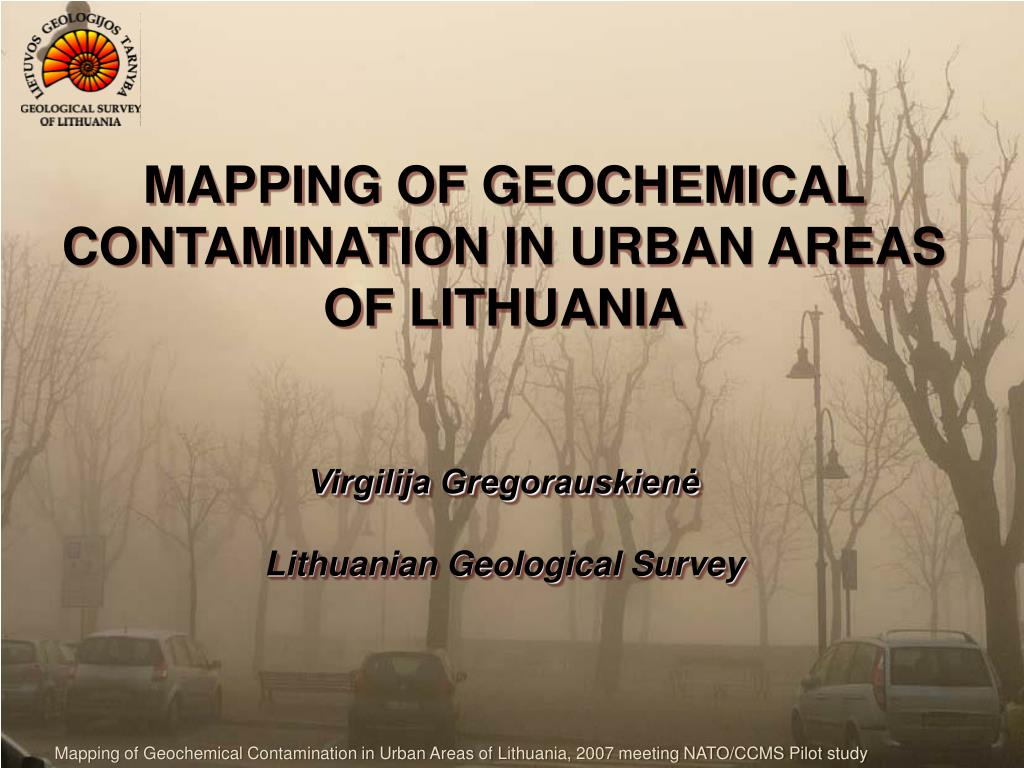 MAPPING OF GEOCHEMICAL