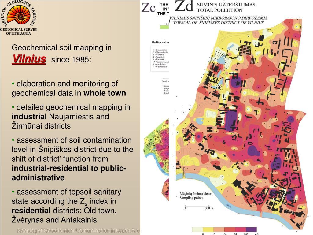 Geochemical soil mapping in