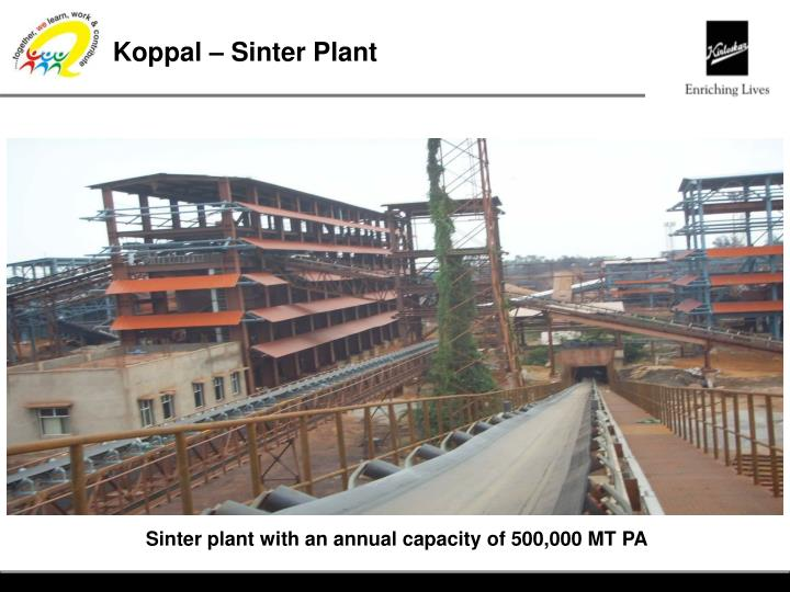 Koppal – Sinter Plant