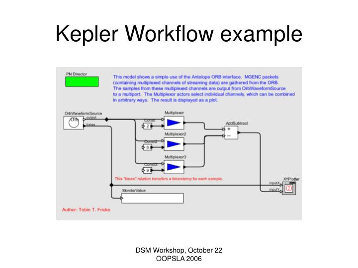 Kepler Workflow example
