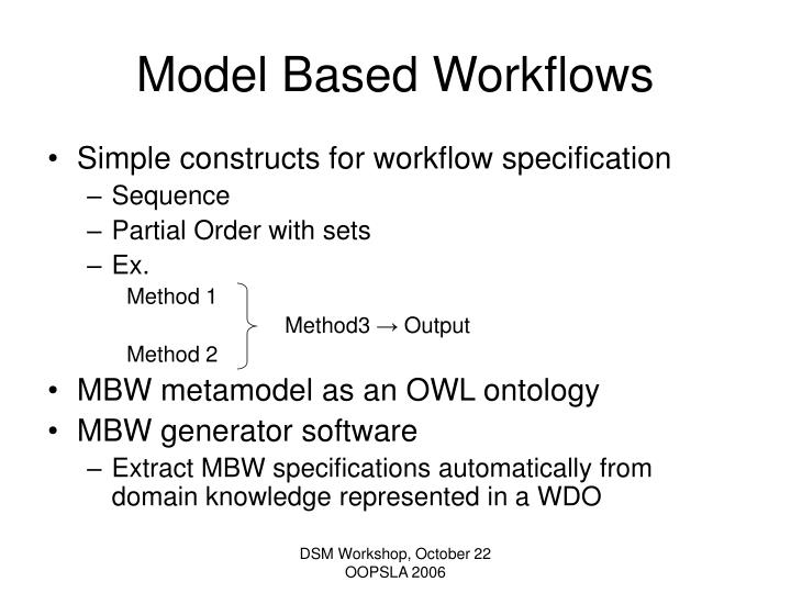 Model Based Workflows
