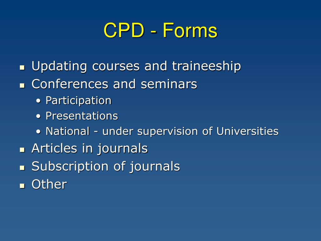 CPD - Forms