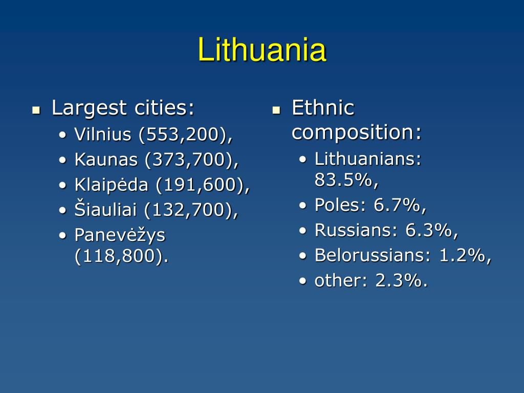 Largest cities: