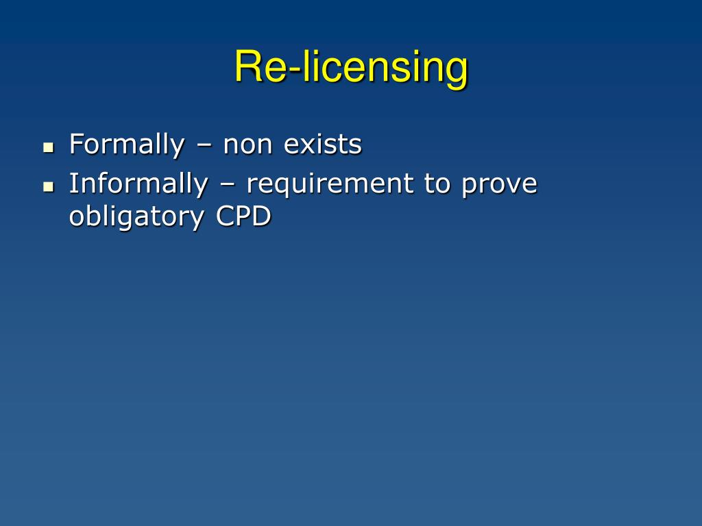 Re-licensing