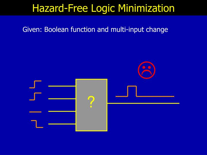 Hazard-Free Logic Minimization