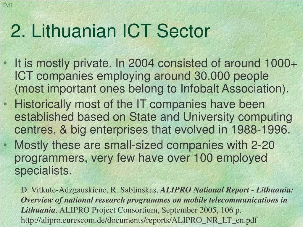 2. Lithuanian ICT Sector