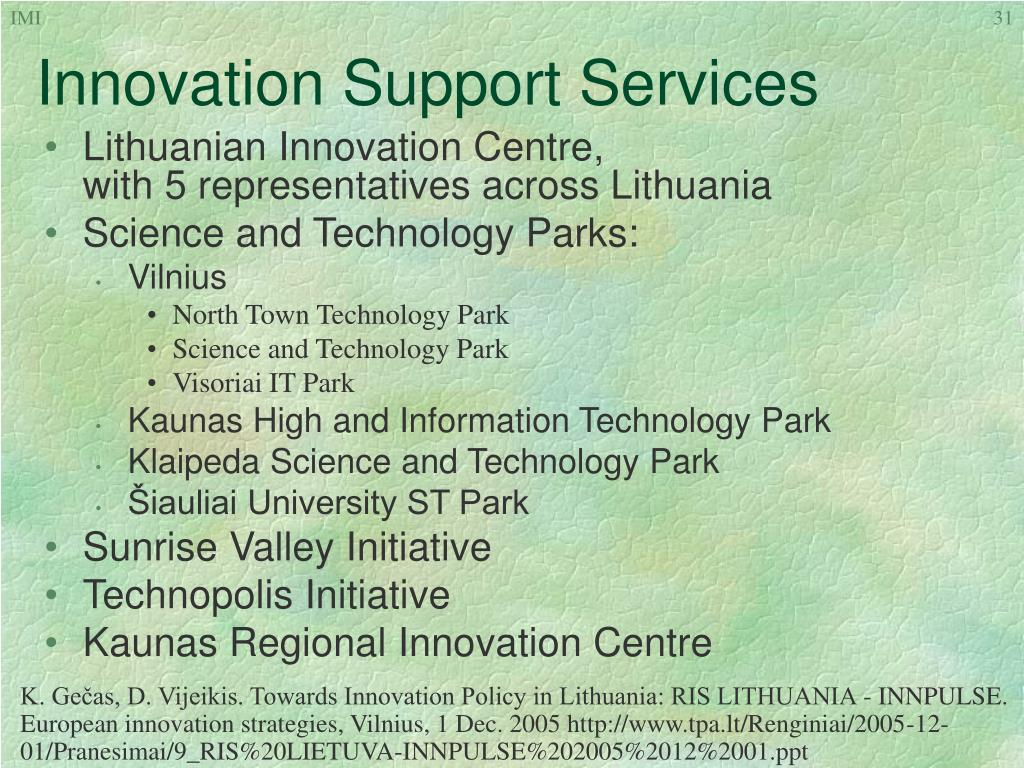Innovation Support Services