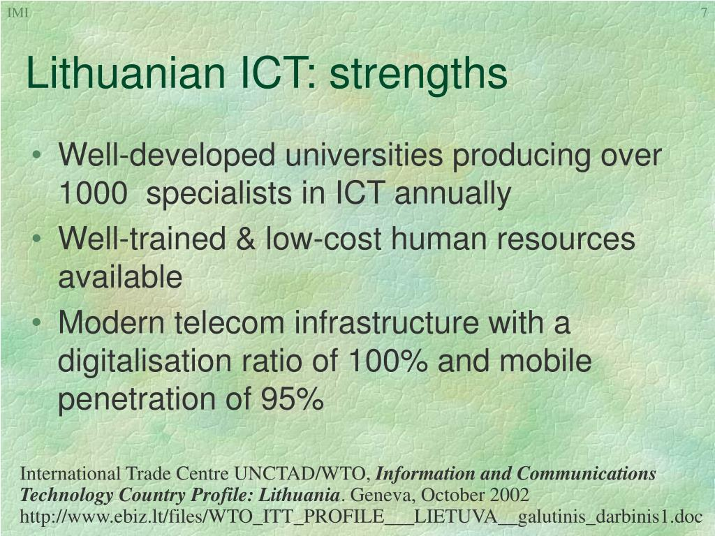 Lithuanian ICT: strengths