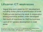 lithuanian ict weaknesses