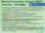 national innovation system swot overview strengths