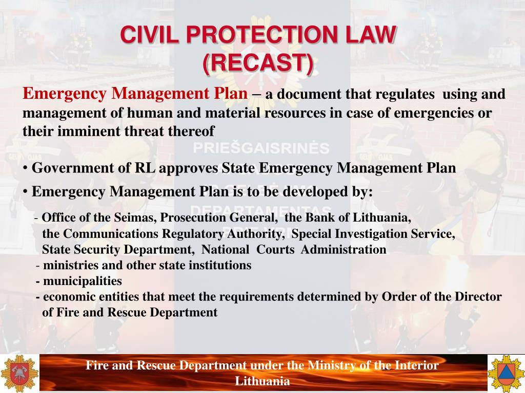 CIVIL PROTECTION LAW