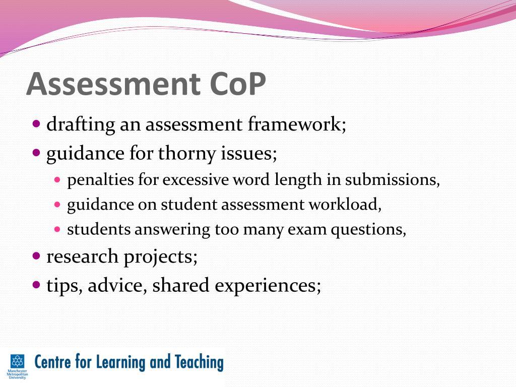 Assessment CoP