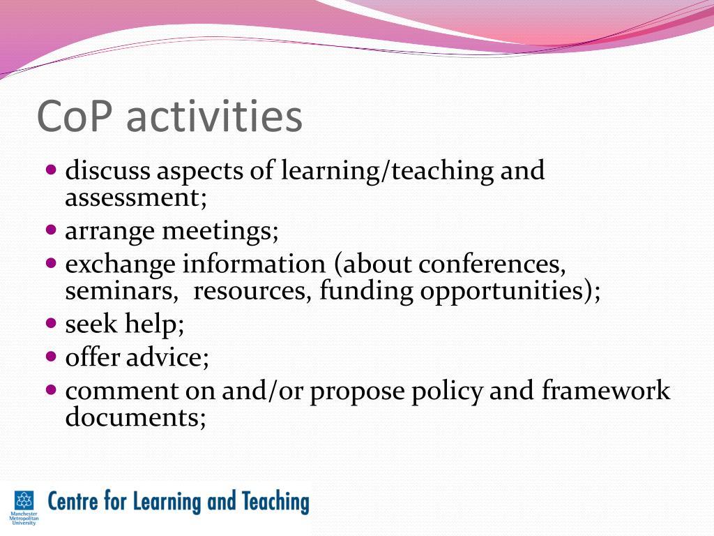 CoP activities