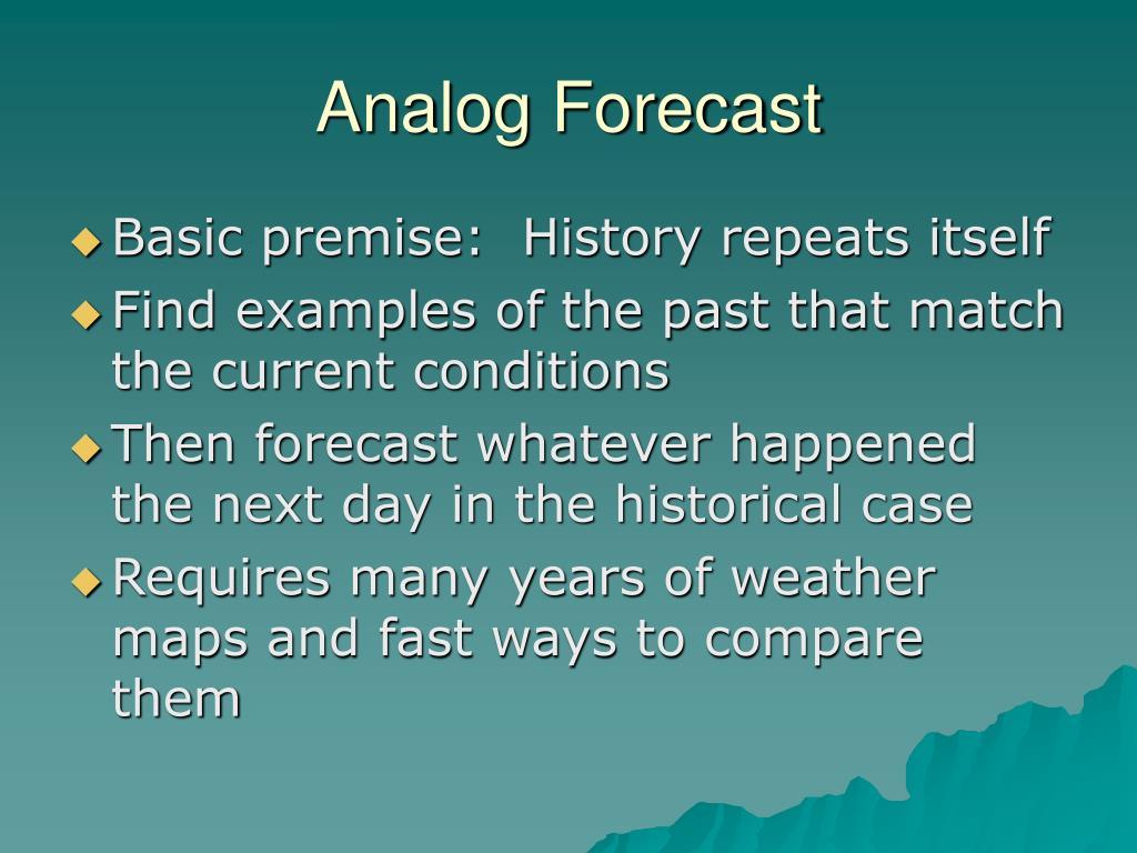 Analog Forecast