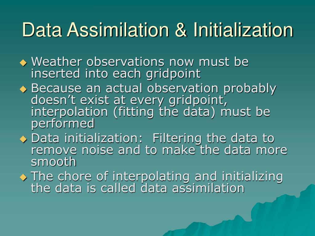 Data Assimilation & Initialization