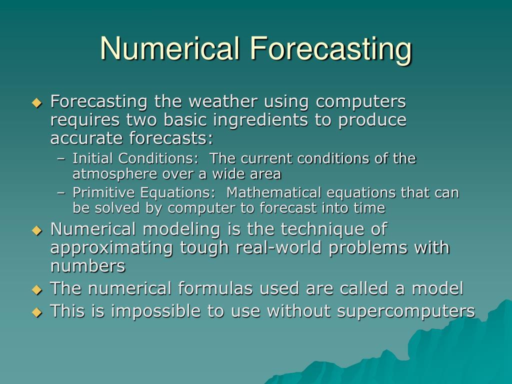 Numerical Forecasting
