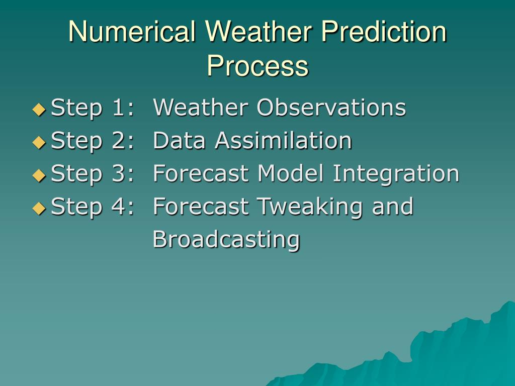 Numerical Weather Prediction Process
