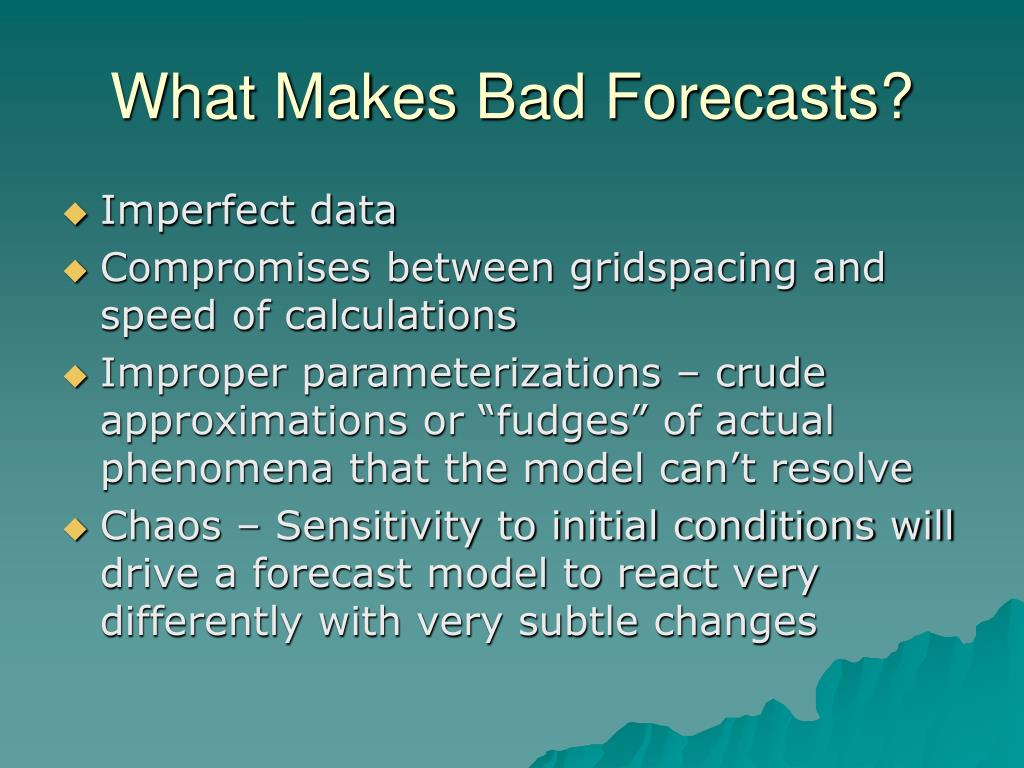 What Makes Bad Forecasts?