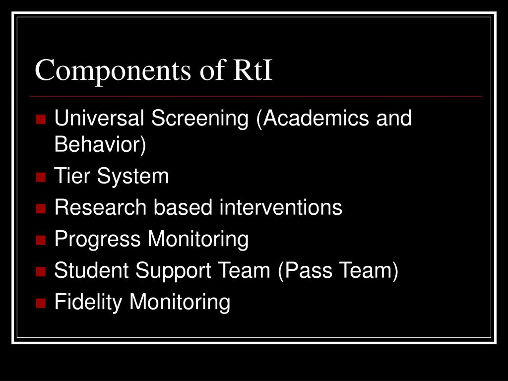 Components of RtI