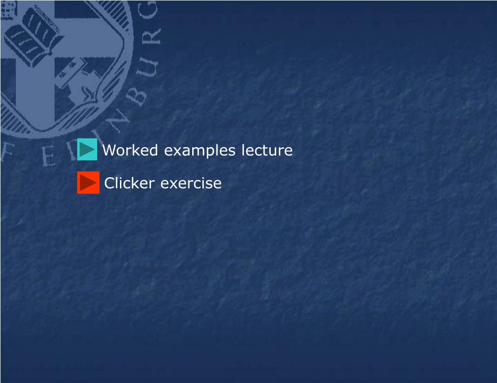 Worked examples lecture