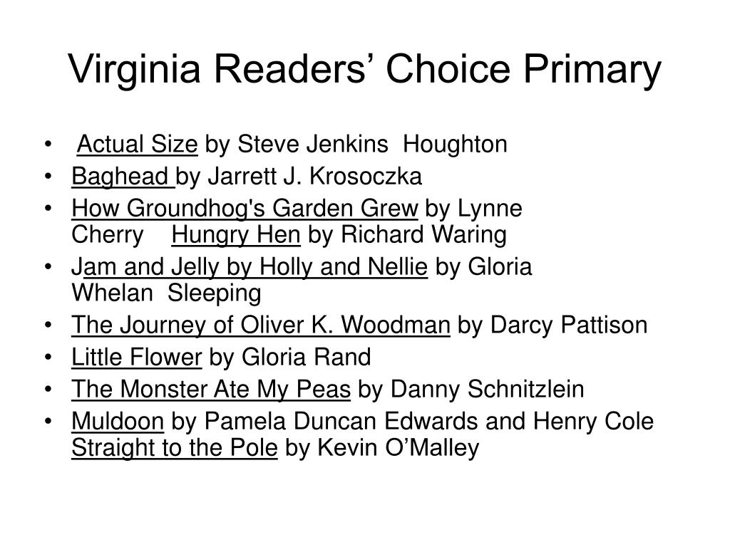 Virginia Readers' Choice Primary
