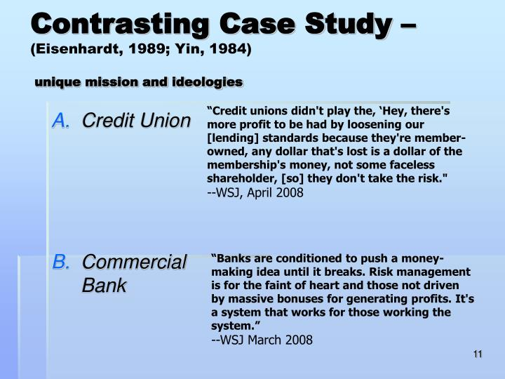 Contrasting Case Study –
