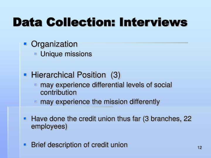 Data Collection: Interviews
