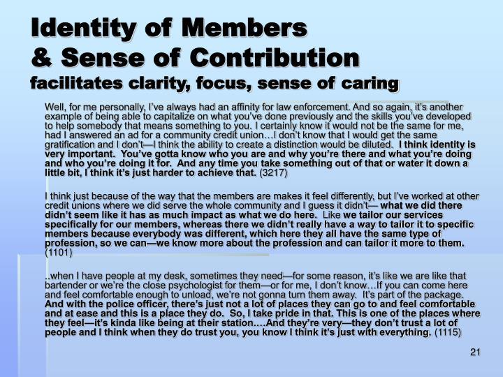Identity of Members