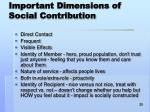 important dimensions of social contribution