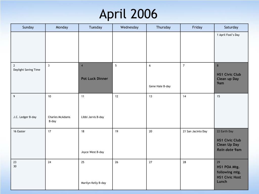 April 2006