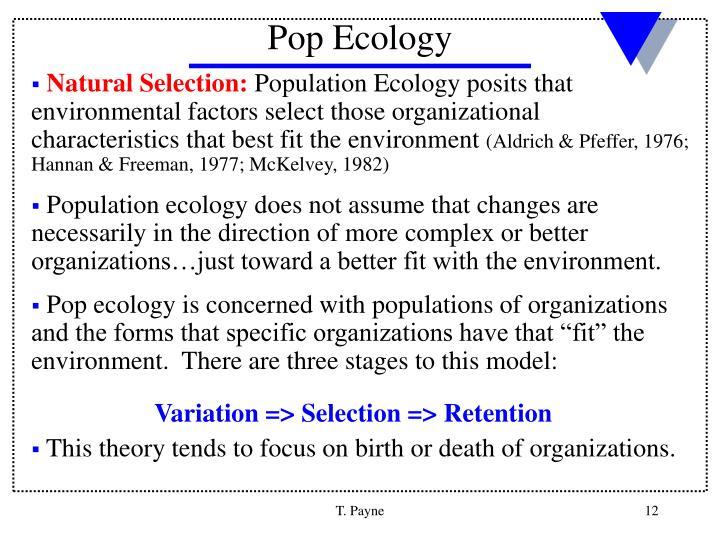 Pop Ecology