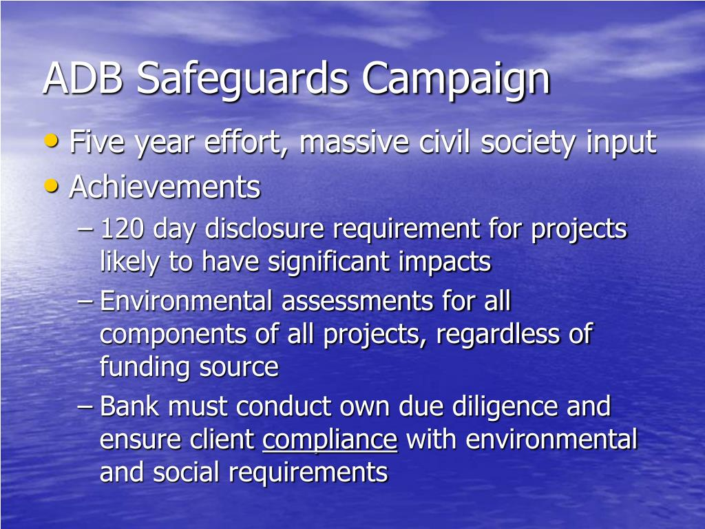ADB Safeguards Campaign