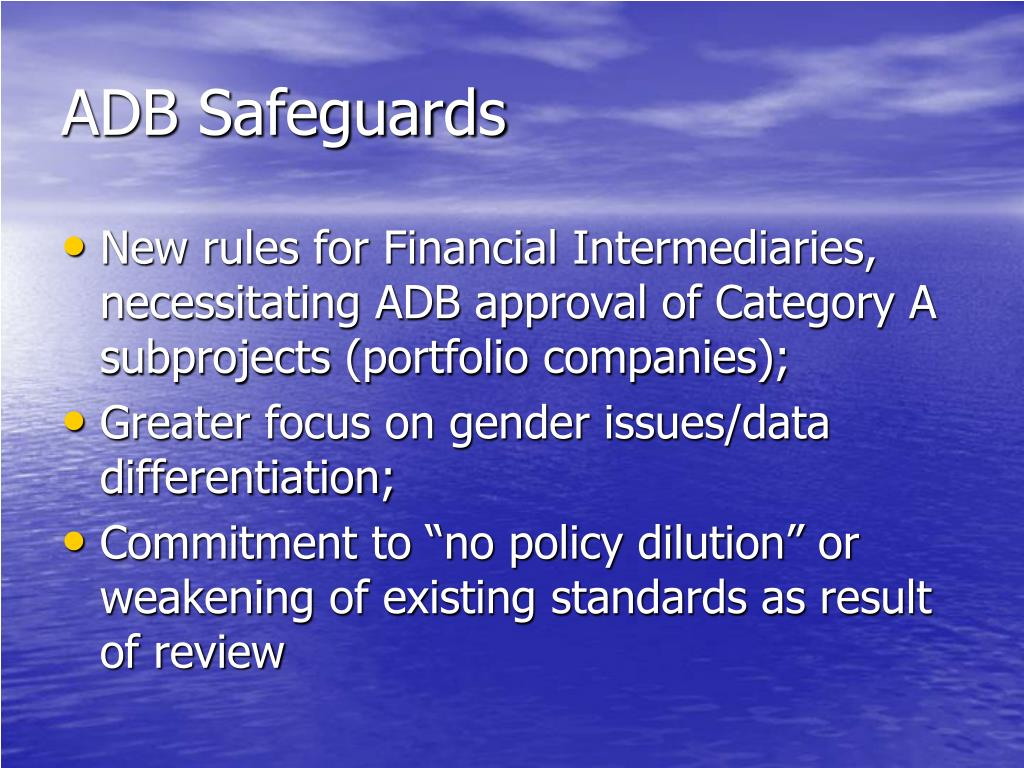 ADB Safeguards
