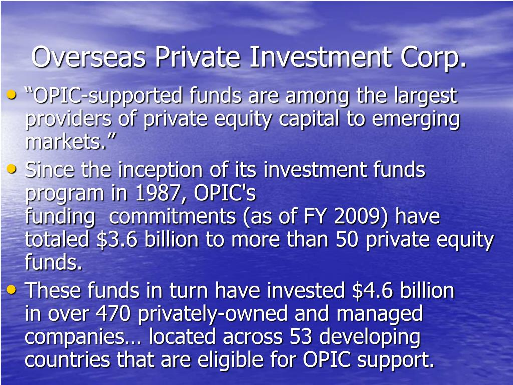Overseas Private Investment Corp.