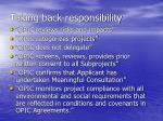 taking back responsibility
