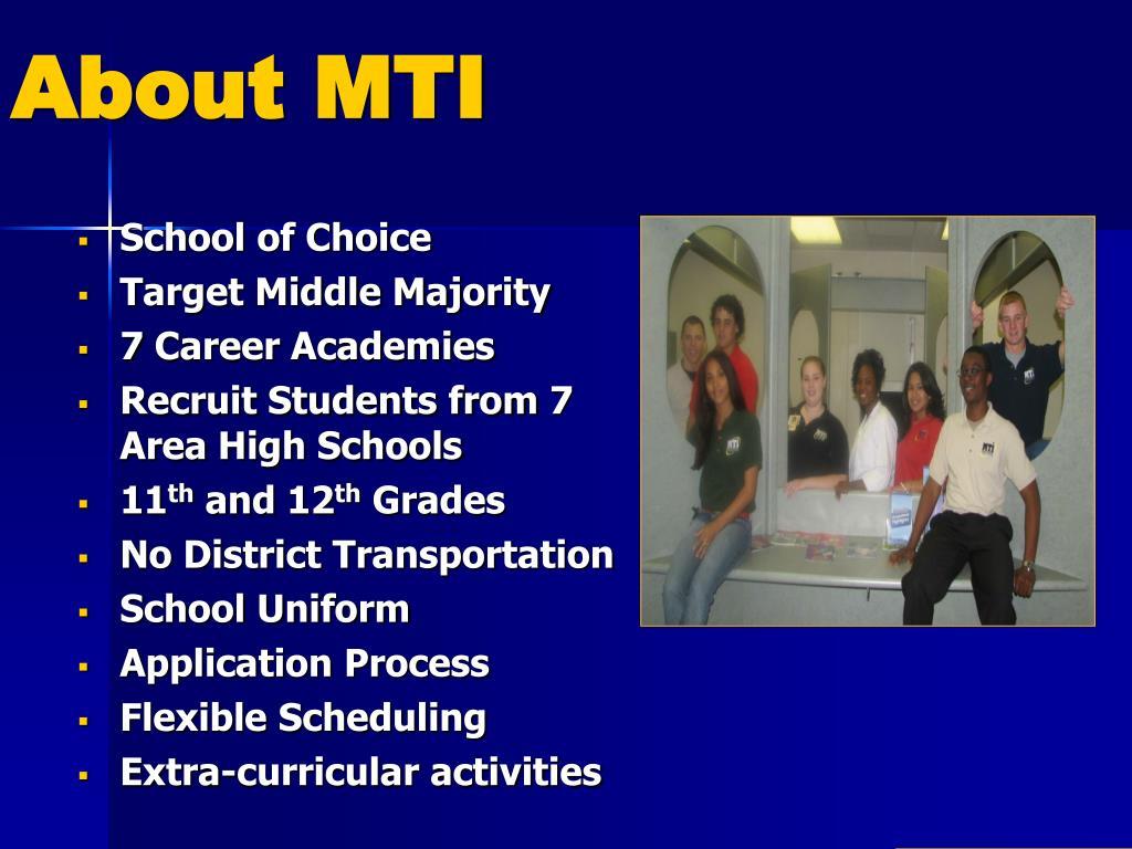 About MTI
